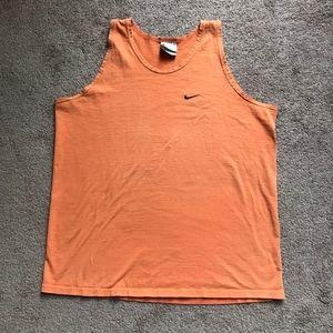 Vintage Nike Made in USA Orange Tank Size Medium
